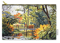 Autumn Water Bridge Carry-all Pouch