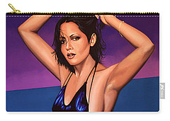 Barbara Carrera Painting Carry-all Pouch by Paul Meijering