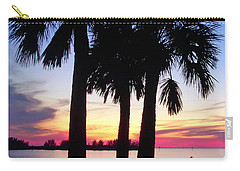 Carry-all Pouch featuring the photograph  Beach Sunset by Aimee L Maher Photography and Art Visit ALMGallerydotcom