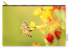Bee On Milkweed Carry-all Pouch