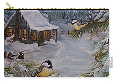 Black Capped   Chickadee's  Carry-all Pouch
