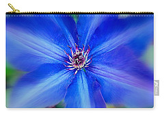 Carry-all Pouch featuring the photograph  Blue Clematis by Nick Kloepping