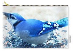 Bright Blue Jay  Carry-all Pouch