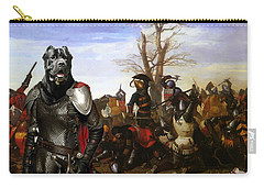 Cane Corso Art Canvas Print - Swords And Bravery Carry-all Pouch
