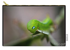 Carry-all Pouch featuring the photograph  Caterpillar by Michelle Meenawong