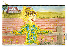 Cheerful Scarecrow Carry-all Pouch