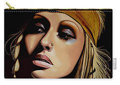 Christina Aguilera Painting Carry-all Pouch by Paul Meijering