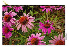 Carry-all Pouch featuring the photograph  Coneflower Gang  by James C Thomas