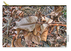 Carry-all Pouch featuring the photograph  Dead Leaves by Michelle Meenawong