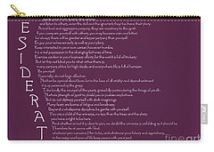 Desiderata 5 Carry-all Pouch by Wendy Wilton
