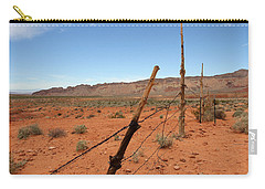 Carry-all Pouch featuring the photograph  Don't Fence Me In by Tammy Espino