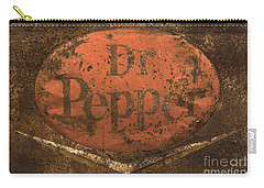 Dr Pepper Vintage Sign Carry-all Pouch by Bob Christopher