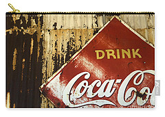 Drink Coca Cola  Memorbelia Carry-all Pouch by Bob Christopher