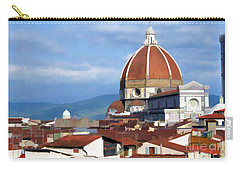 Carry-all Pouch featuring the photograph  Duomo Of Florence # 3 by Allen Beatty