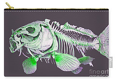 Carry-all Pouch featuring the painting  Fish Art by Tbone Oliver