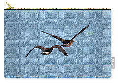 Carry-all Pouch featuring the photograph  Fleeing Geese by Tom Janca