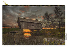 Foster Covered Bridge Sunset Carry-all Pouch