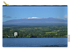 Carry-all Pouch featuring the photograph  Hawaii's Snow Above Hilo Bay Hawaii by Lehua Pekelo-Stearns
