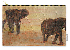 Carry-all Pouch featuring the painting  Hey Wait For Us by Stephanie Grant