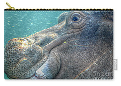 Hippopotamus Smiling Underwater  Carry-all Pouch