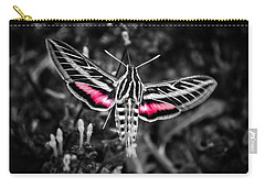 Hummingbird Moth Bw Print Carry-all Pouch