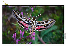 Hummingbird Moth Print Carry-all Pouch