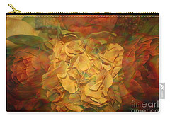 Carry-all Pouch featuring the photograph  Impressionistic Autumn Bouquet by Dora Sofia Caputo Photographic Art and Design