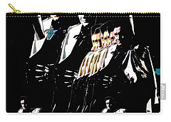 Carry-all Pouch featuring the photograph  Johnny Cash Multiplied  by David Lee Guss