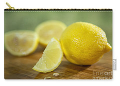 Lemon Citrus Limon Zitronen Carry-all Pouch by Iris Richardson