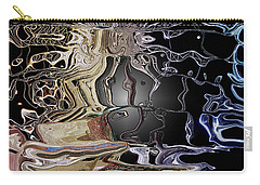 Carry-all Pouch featuring the photograph  Liquid Metal by Pennie  McCracken