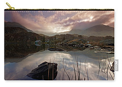 Llyn Ogwen Sunset Carry-all Pouch by Beverly Cash