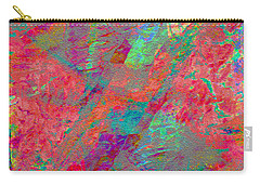 Carry-all Pouch featuring the digital art  Magenta Poppy Rock by Stephanie Grant
