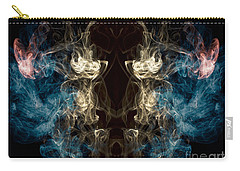 Minotaur Smoke Abstract Carry-all Pouch by Edward Fielding