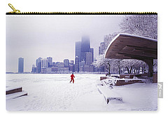 Carry-all Pouch featuring the photograph  North Ave Beach Chess Palv Chicago Lake Front  by Tom Jelen