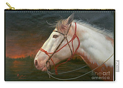 Original Animal Oil Painting Art-horse#16-2-5-21 Carry-all Pouch by Hongtao     Huang