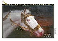 Original Animal Oil Painting Art-horse-03 Carry-all Pouch by Hongtao     Huang