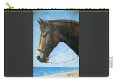 Original Animal Oil Painting Art-horse-04 Carry-all Pouch by Hongtao     Huang