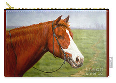 Original Animal Oil Painting Art-horse-06 Carry-all Pouch by Hongtao     Huang
