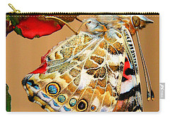 Painted Lady Butterfly Carry-all Pouch by David and Carol Kelly