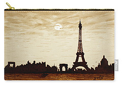 Paris Under Moonlight Silhouette France Carry-all Pouch