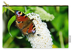 Peacock Butterfly Carry-all Pouch by Martina Fagan