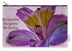 Peruvian Lily With Scripture Carry-all Pouch