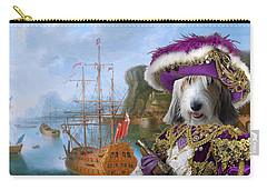 Petit Basset Griffon Vendeen Art Canvas Print  Carry-all Pouch by Sandra Sij