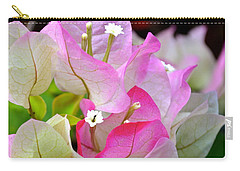 Carry-all Pouch featuring the photograph  Pink  Bougainvillea ...with A Friend by Lehua Pekelo-Stearns