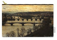 Vintage Prague Vltava River 1 Carry-all Pouch