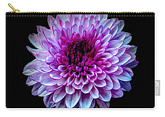 Carry-all Pouch featuring the photograph  Purple On Black by Michelle Meenawong