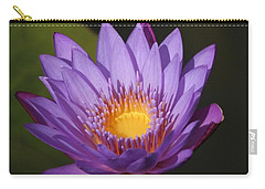 Purple Water Lily Carry-all Pouch by Karen Silvestri