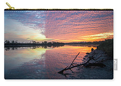 River Glows At Sunrise Carry-all Pouch by Leticia Latocki