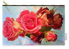 Carry-all Pouch featuring the photograph  Roses 4 Lovers  by Rogerio Mariani