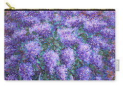 Carry-all Pouch featuring the painting  Scented Lilacs Bouquet by Natalie Holland
